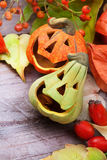Halloween decors, still life. Royalty Free Stock Photography