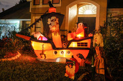 Halloween-Dekoration in einem Haus Stockfotos