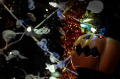 Halloween-Dekorationen lizenzfreies stockfoto