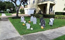 Halloween-Dekorationen, Florida stockfoto