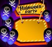 Halloween deltagare. royaltyfri illustrationer