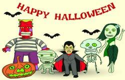 Halloween deltagare Arkivfoton