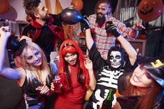 Halloween deltagare royaltyfria bilder