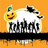Halloween deltagarebakgrund stock illustrationer