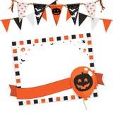 Halloween deltagarekort Royaltyfria Bilder