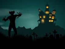 Halloween demon background Royalty Free Stock Photo
