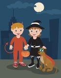 Halloween in der großen Stadt Vektor Abbildung