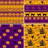 halloween deseniuje bezszwowego Zdjęcia Royalty Free