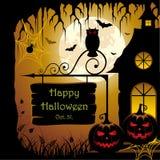 Halloween Design. Vector illustration of an abstract spooky Halloween design