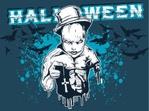 Halloween Design. An illustration for a Halloween poster or t-shirt Royalty Free Stock Photos