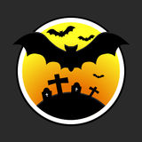 Halloween design with bats Stock Image