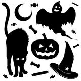 Halloween design element set Royalty Free Stock Photography