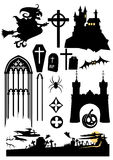 Halloween design elements. Isolated on white Royalty Free Stock Images