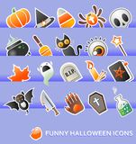 Halloween design elements. 20 halloween design elements or icons Stock Photo