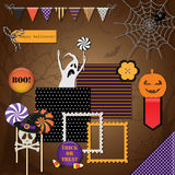 Halloween design elements Royalty Free Stock Images