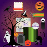 Halloween design elements Royalty Free Stock Photos