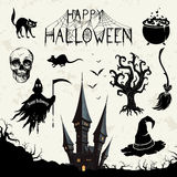 Halloween Design Elements Royalty Free Stock Photography