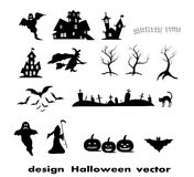 Halloween design elements Royalty Free Stock Image