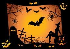 Halloween design elements. vector Stock Photo
