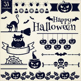 Halloween design elements. Vector set. Royalty Free Stock Photography