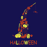 Halloween design from filled elements Royalty Free Stock Photography