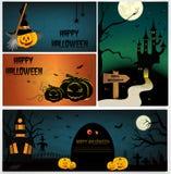 Halloween design - Forest pumpkins Stock Photo