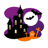 Halloween Design with Haunted House Royalty Free Stock Images