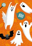 Halloween banner template royalty free illustration