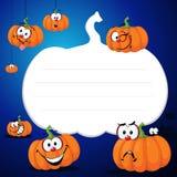 Halloween design pumpkin funny vector illustration blue Royalty Free Stock Photography