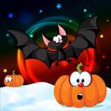 Halloween design pumpkin funny vector illustration shiny Stock Photo