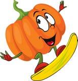 Halloween design pumpkin funny vector illustration Royalty Free Stock Photos