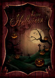 Halloween design - Pumpkins Theatre Royalty Free Stock Photo