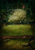 Halloween design - skoggrav Arkivfoton