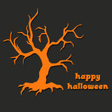 Halloween design with spooky graves. Stock Photo