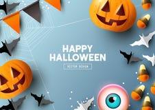 Halloween Design Top View Vector royalty free illustration