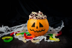 Halloween dessert for children's party Royalty Free Stock Photo