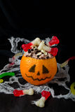 Halloween dessert for children's party Royalty Free Stock Images