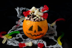 Halloween dessert for children's party Stock Photos