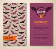 Halloween deux côtés affiche ou insecte illustration stock