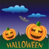 Halloween deux potirons illustration stock