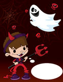 Halloween devil boy Royalty Free Stock Photography