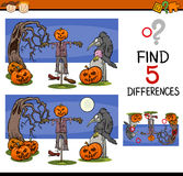Halloween differences task Royalty Free Stock Photography