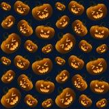 Different Halloween Pumpkins Dark Seamless Pattern Royalty Free Stock Image