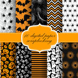 Halloween Digital Paper Royalty Free Stock Photography