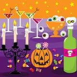Halloween-Dinerpartij Royalty-vrije Illustratie