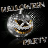 Halloween disco ball on black. Party Royalty Free Stock Photography