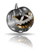 Halloween disco ball on white Royalty Free Stock Images