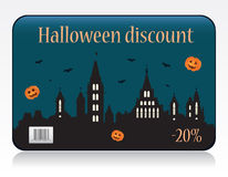 Halloween discount card Stock Photo