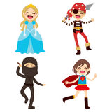 Halloween Disguised Children Royalty Free Stock Photos