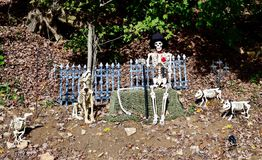 Halloween Display #10. This is a Fall picture of a Halloween display located in a Donegal, Pennsylvania in Westmoreland County. This picture was taken on October royalty free stock photo